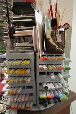 Craft room copic tower
