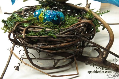 Blue Bird in nest 001a