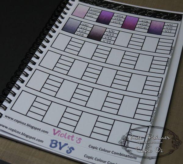 Copic Colour Journals Swatches Sparkle Tart