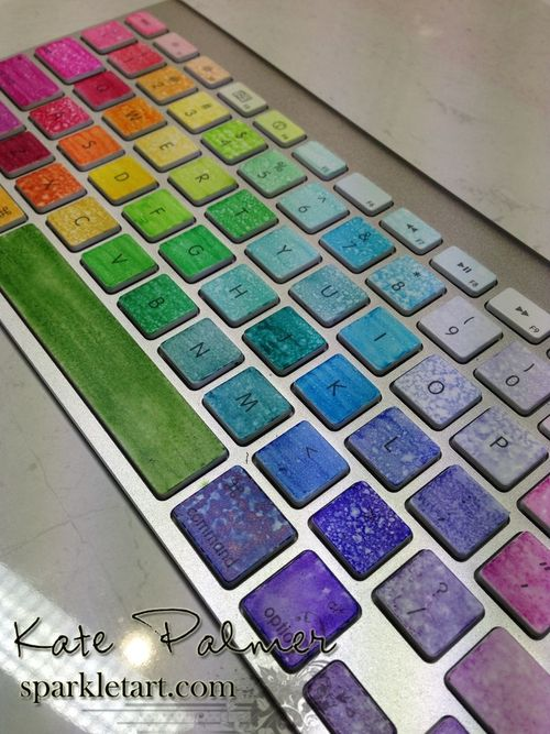 Kates coloured apple keyboard 1