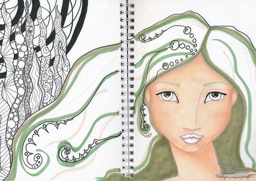 Copic Mermaid - 1 wm