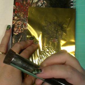 Add gold foil