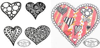 Heart doodle - 1c
