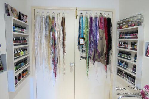 Craft room behind doors