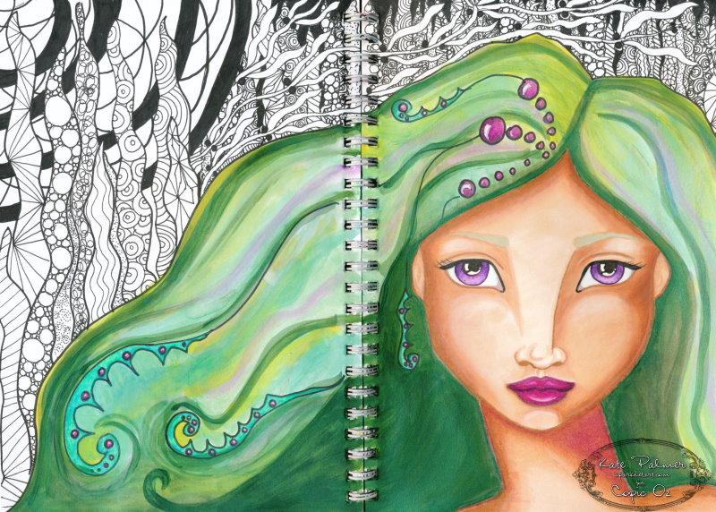 Copic Mermaid - 3f sm wm