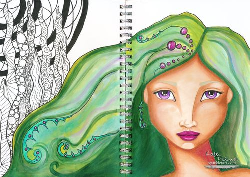 Copic Mermaid - 2 wm