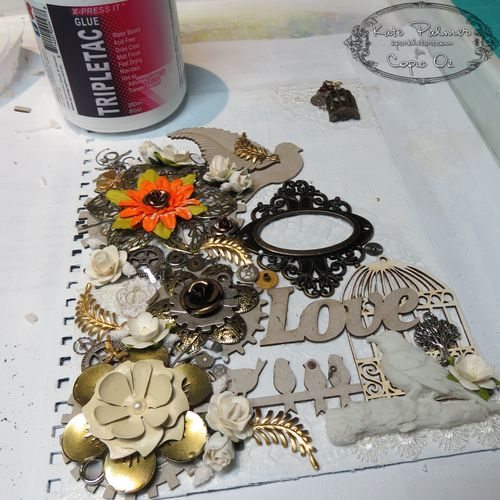 Glue on embellishments