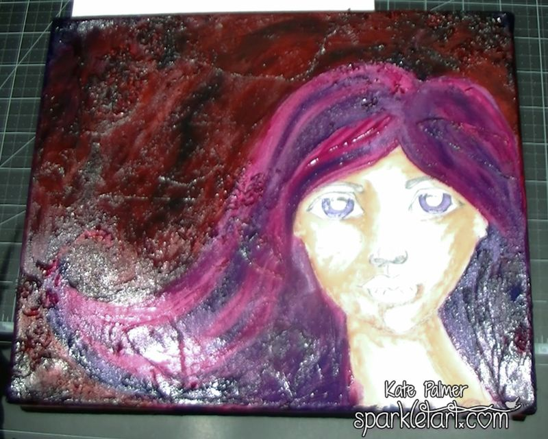 Mixed Media Hair-4