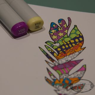 Copic Doodled Feather Card-13