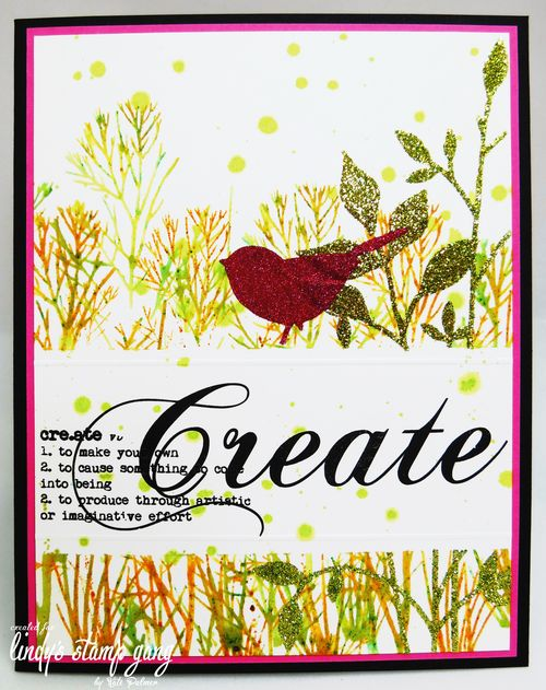 Glitter Bird card wm