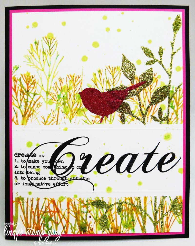 Glitter Bird card wm