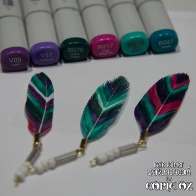 Copic Coloured Feathers-3