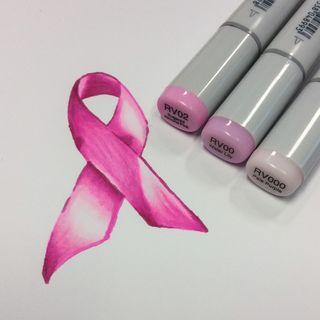Pink Ribbon Monochrome 12