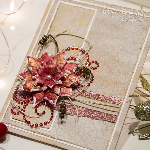 LSG Christmas Poinsettia Card-4  lsg wm