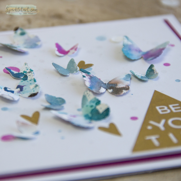 Recycled Butterfly Card-6a