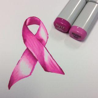 Pink Ribbon Monochrome 11
