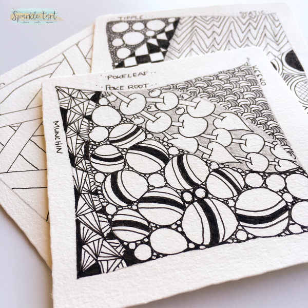 Poke Leaf and Munchin Zentangle
