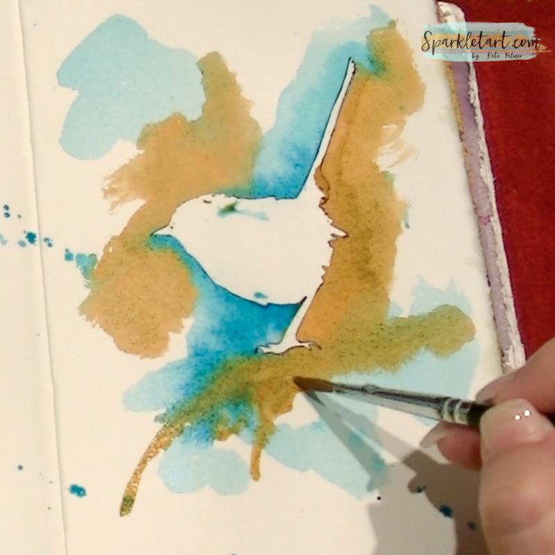 Negative space bird page-9