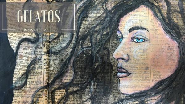 Gelatos on vintage paper 2a