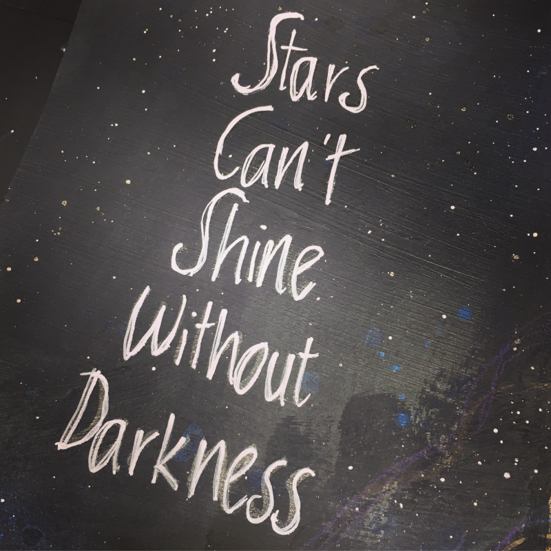 Stars can't shine - quote