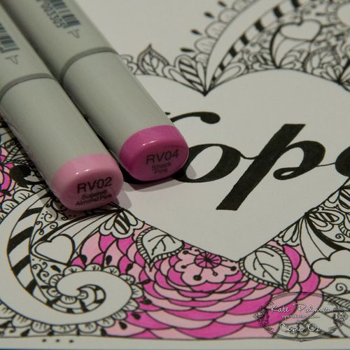 Copic Oz - Hope Doodled Heart-1