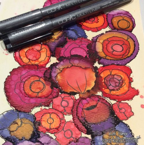 Copic Various Ink Flowers 2a3 wm