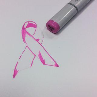 Pink Ribbon Monochrome 8