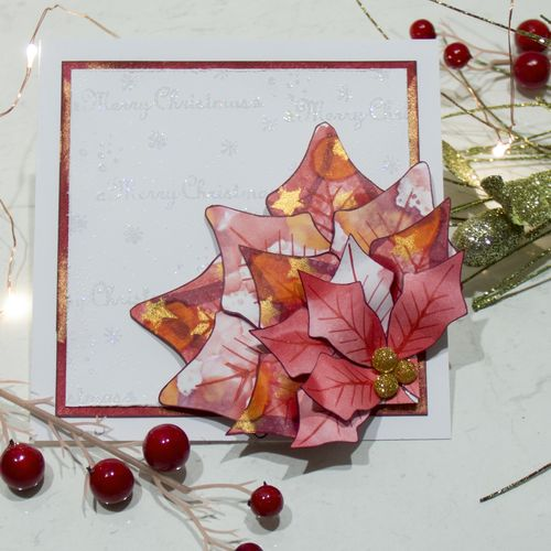 Copic Christmas Poinsettia Card-1