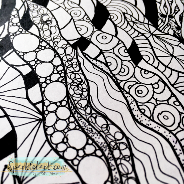 Zendoodle as part of journal page