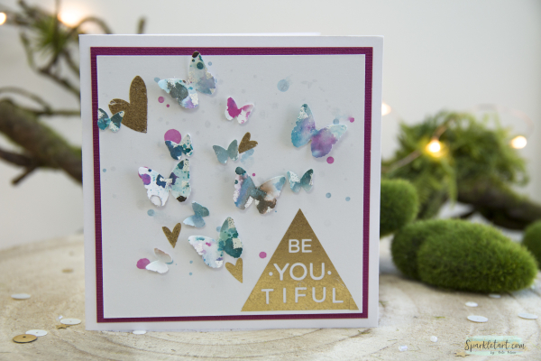 Recycled Butterfly Card-10a