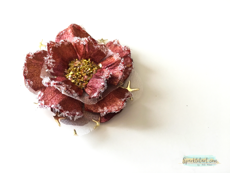 Upcycled paper flower 4a