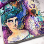 Layered Mixed Media Jane Davenport Journal Cover (in 10 steps)