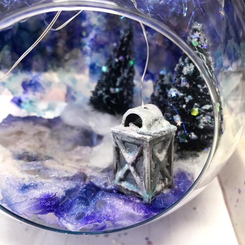 DIY Winter Glass Bauble 10