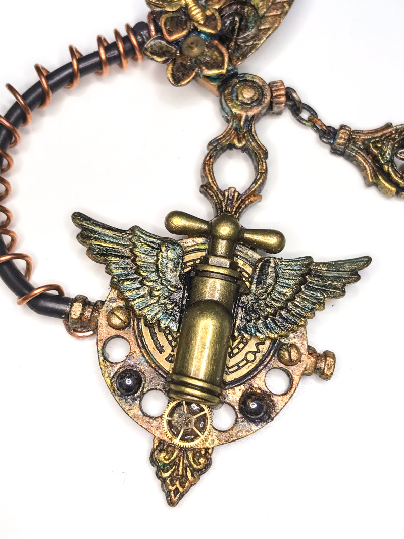 Altered Steampunk Necklace 10