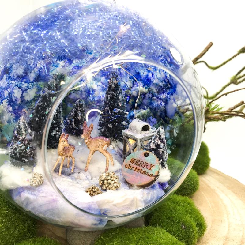 DIY Winter Glass Bauble 23