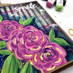 Make You Smile Style Art Journaling (How to Paint Simple Roses)