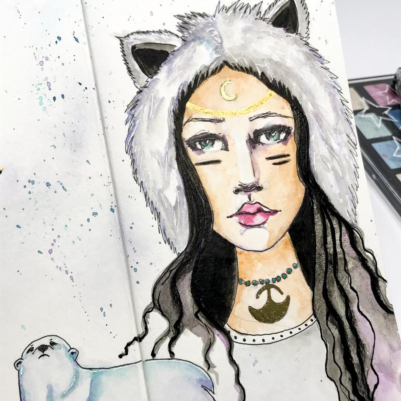 Spellbinders-Kate Palmer-Winter-Spirit-Girl-20