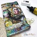 Mixed Media Travel Journal Cover for Nomadic Soul Diaries