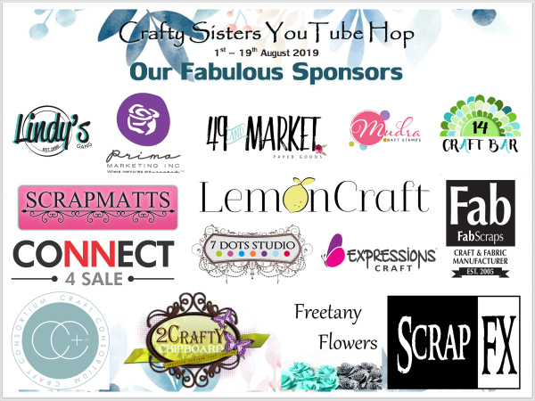 Crafty Sisters YouTube Hop- Our Fabulous Sponsors- Banner -2