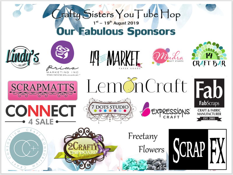 Crafty Sisters YouTube Hop- Our Fabulous Sponsors- Banner -1