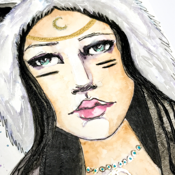 Spellbinders-Kate Palmer-Winter-Spirit-Girl-15