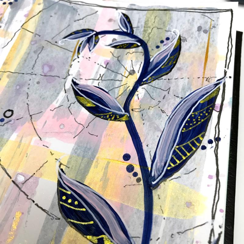 Dina Wakley Acrylic Paint Journal Page 10