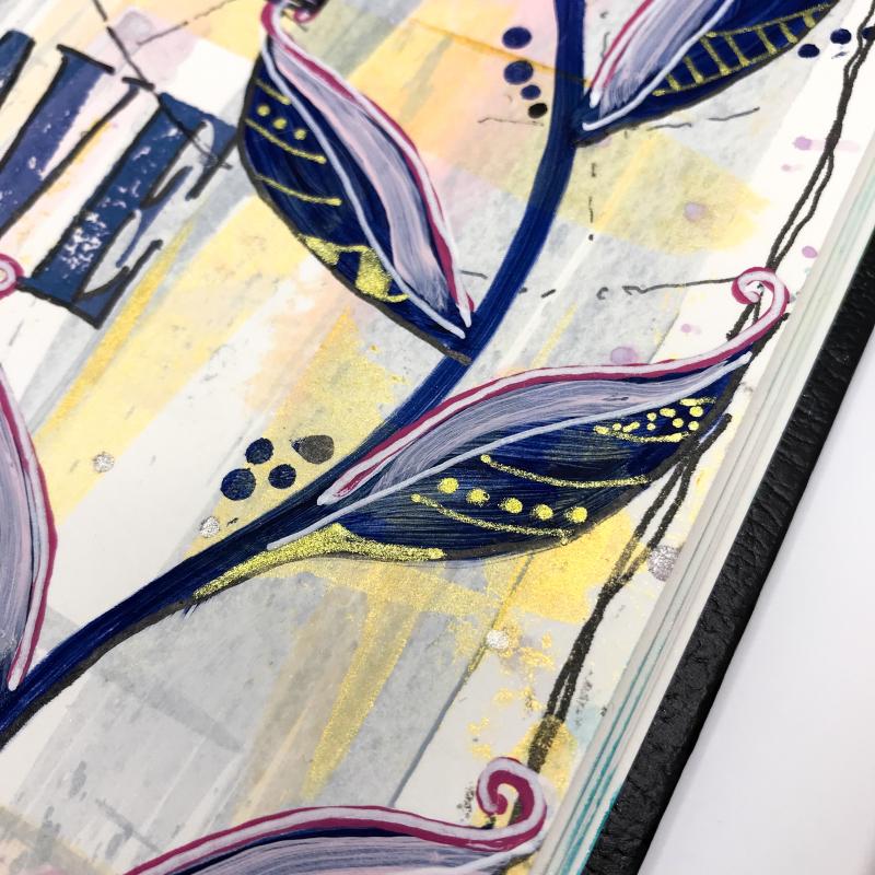 Dina Wakley Acrylic Paint Journal Page 4