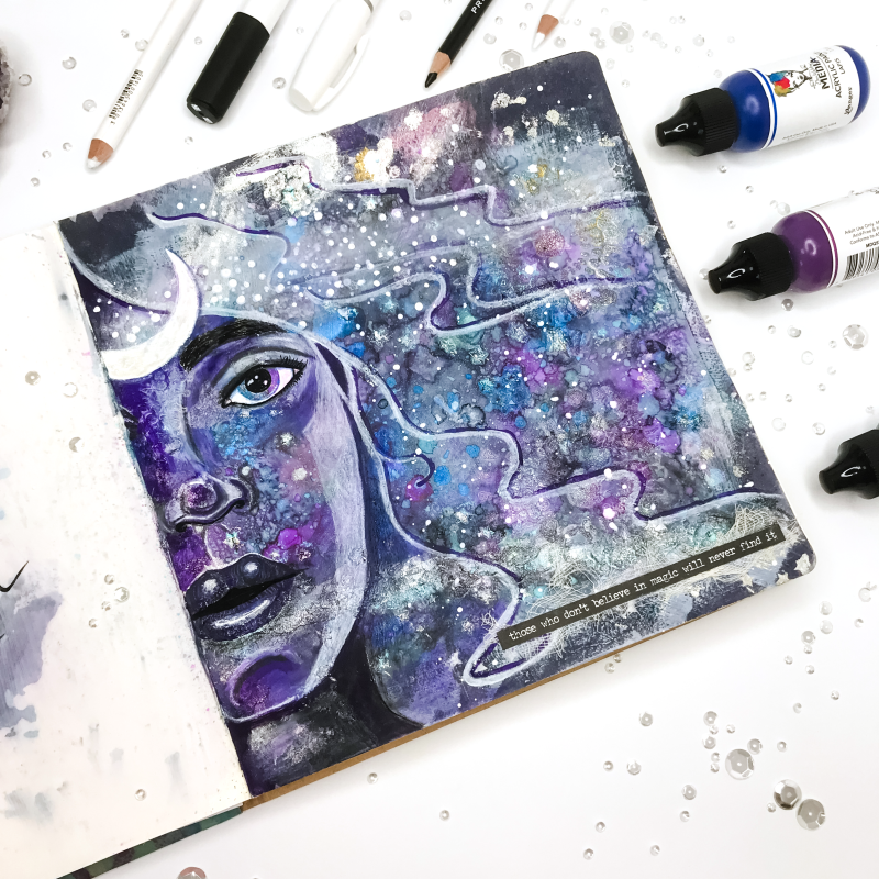 Moon Child art journal page_04749