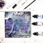 Moon Magic | Galaxy Themed Art Journal Page Process Video